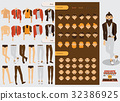 Vector constructor with handsome male character  32386925