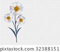 chamomile, vector, flower 32388151
