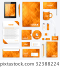 Orange set of vector corporate identity template 32388224
