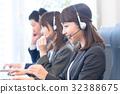 接線員,呼叫中心,西裝,工作人員,3人 32388675
