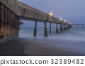 Under Pacifica Municipal Pier at Dusk. 32389482