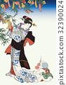 Utagawa Kuniyoshi五年節日Yuri Tanabata圖像例證 32390024