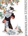 Utagawa Kuniyoshi五年節日Yuri Tanabata圖像例證 32390025