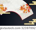 折扇 背景材料 背景素材 32397092