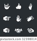 手 手势 矢量 32398014