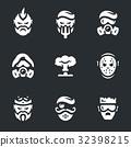 Vector Set of Post-apocalypse Characters Icons. 32398215
