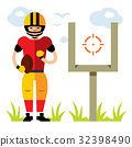 Vector American football player.  32398490