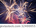 Colored Fireworks in details explosion 32400055