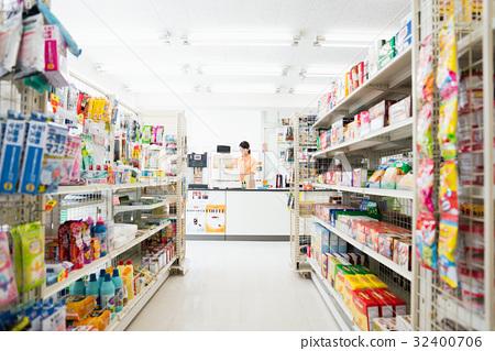 便利店 店员 售货员 32400706