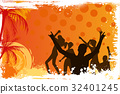 Grunge background with dancing people 32401245