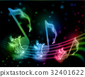 music, note, background 32401622
