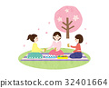인물 소재 - 꽃놀이 2 (여자 회) 텍스처 32401664