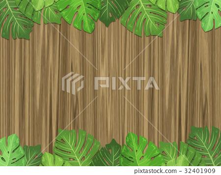 植物熱帶植物框架留下木紋 32401909