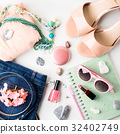 Summer lifestyle woman clothes flat lay 32402749