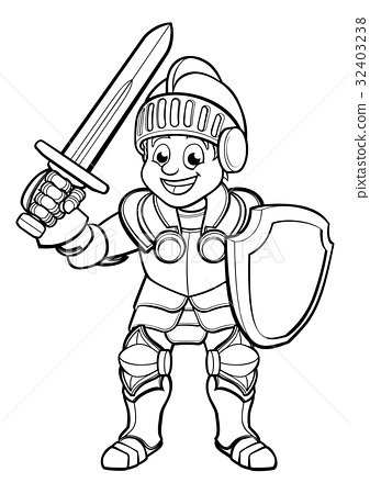 Knight Cartoon Character 32403238