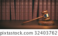 Gavel on the background of vintage lawyer books 32403762