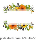 Vector floral design horizontal card design 32404627