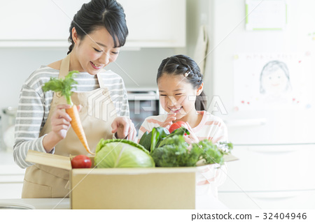 Parent and child vegetables 32404946