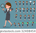 flat type Gray suit business woman_2 32408454