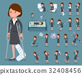 flat type Gray suit business woman_sickness 32408456