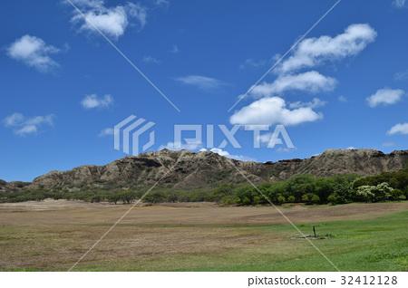 하와이 오아후 섬 주립 기념 공원 다이아몬드 헤드 분화구 32412128