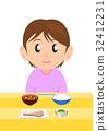 栄養バランスのとれた食事 女性 32412231