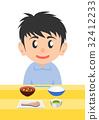 栄養バランスのとれた食事 男性 32412233