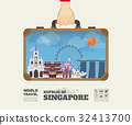 Hand carrying Singapore Landmark Global Travel. 32413700