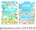 Welcome Summer poster template with flowers 32414916
