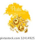 pasta, italian, vector 32414925