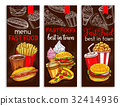 Vector banners for fast food restaurant menu 32414936