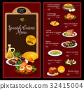 Vector lunch menu template for Spanish cuisine 32415004