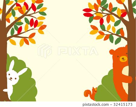 秋天例证森林动物 32415173