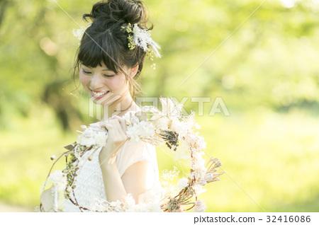 新娘 婚禮 笑容 32416086