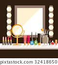 Vector, flat, makeup 32418650