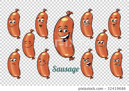 sausage emotions characters collection set 32419686