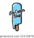 vintage, emblem, ice-cream 32419878