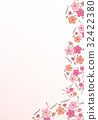花柄【和風背景・シリーズ】 32422380