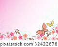 花柄【和風背景・シリーズ】 32422676
