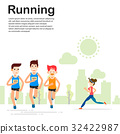 young people running and training marathon sport 32422987