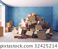 the heap of the cardboard boxes 32425214