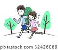 ジョギング 若いカップル 32426069