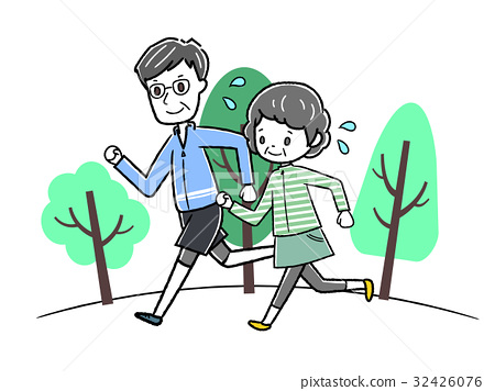 马拉松赛跑 慢跑 矢量 32426076