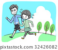 馬拉松賽跑 慢跑 矢量 32426082