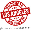 welcome to Los Angeles red stamp 32427171