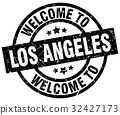 welcome to Los Angeles black stamp 32427173