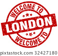 welcome to London red stamp 32427180