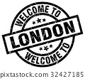 welcome to London black stamp 32427185