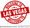 welcome to Las Vegas red stamp 32427327