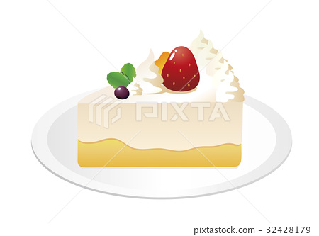Strawberry Decoration Shortcake 2 32428179